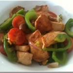 chicken,stirfry,ginger,coriander