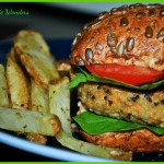Home-Made Chickpea & Quinoa Burgers with Rosemary Fries